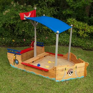 KidKraft- Arenero de madera para niños, diseño de galeón pirata ...
