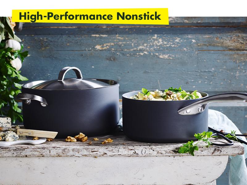 GreenPan, Paris Pro, Healthy Ceramic Nonstick, Cookware, set, hard anodized, metal utensil safe