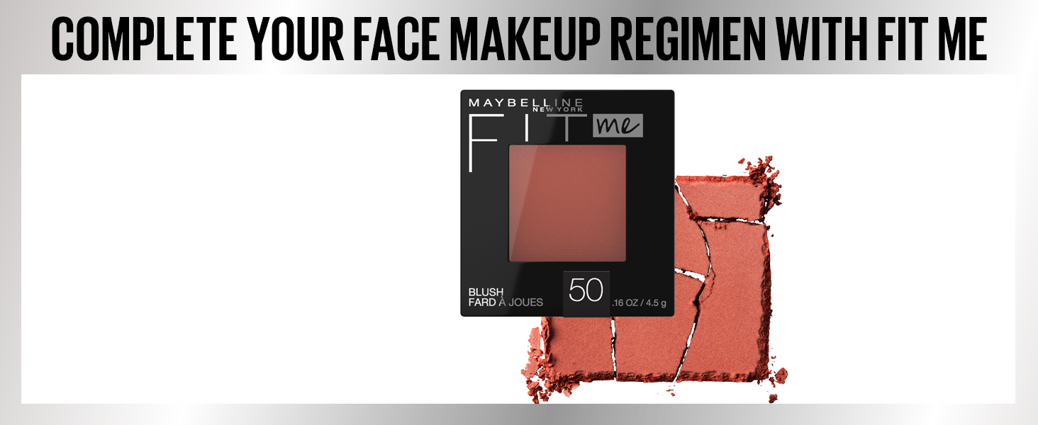 complete your face makeup regimen with fitme, face, makeup, blush, finish with blush, cheeks