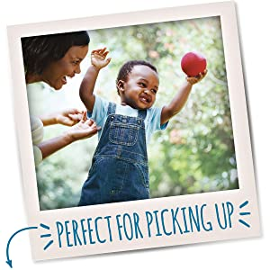 Perfectly shaped, sized and textured to help little ones develop self-feeding skills.