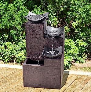 Garden Fountain,water Fountain,outdoor Fountains,outdoor Waterfall,backyard  Waterfall, Patio