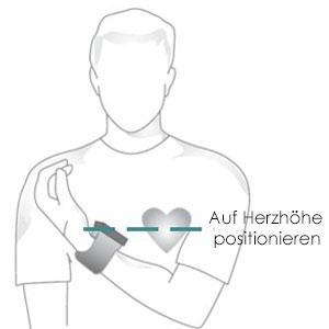 Positionierung auf Herzhöhe