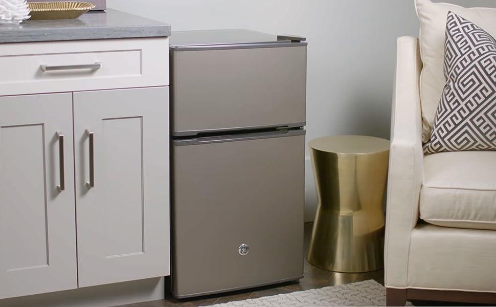 GE Double-Door Compact Refrigerator