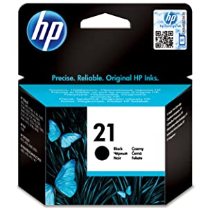 HP ,21 ,Black ,Original ,Ink ,Cartridge, C9351AE