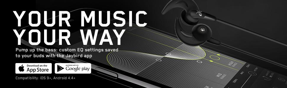 Wireless sport headphones with customizable sound