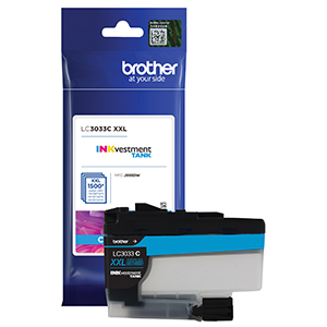 brother lc3033c, ink, cyan, printer, cartridge, high yield, inkvestment, brother, mfc‐j995dw