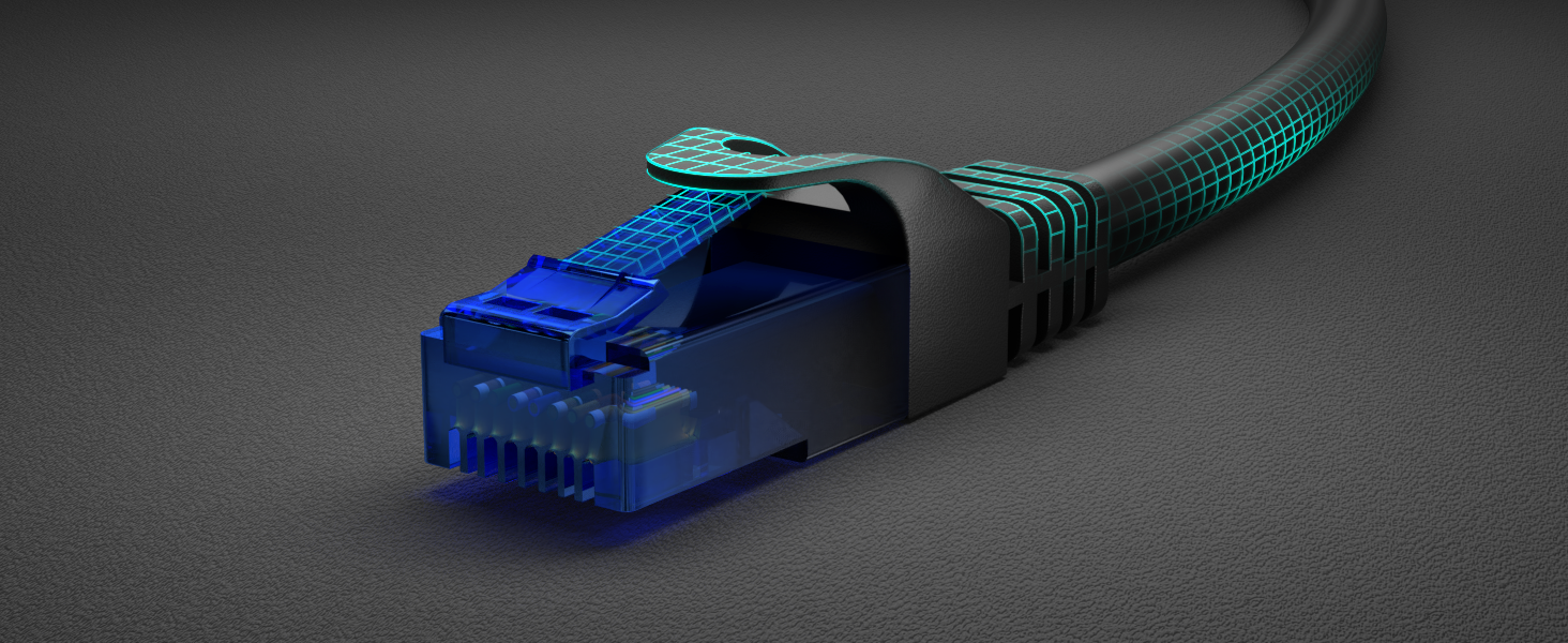 KabelDirekt – 0,5m – Cable de Ethernet y Cable de Parche/de Red (Conector RJ45, para máxima Velocidad de Fibra óptica, Ideal para Redes gigabit/LAN, ...