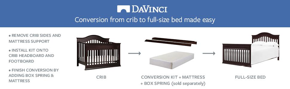 Davinci Hidden Hardware Full Size Bed Conversion Kit
