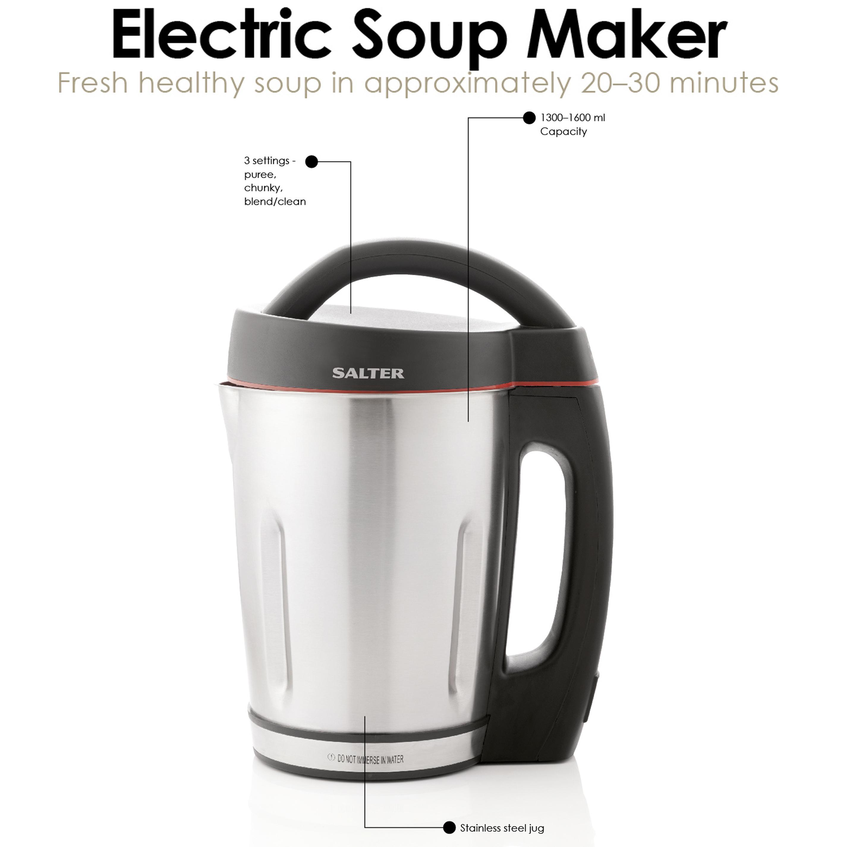 salter ek1548 electric soup maker 1 6 litre 1000 w. Black Bedroom Furniture Sets. Home Design Ideas