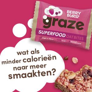 De berry burst superfood oat bites van graze.