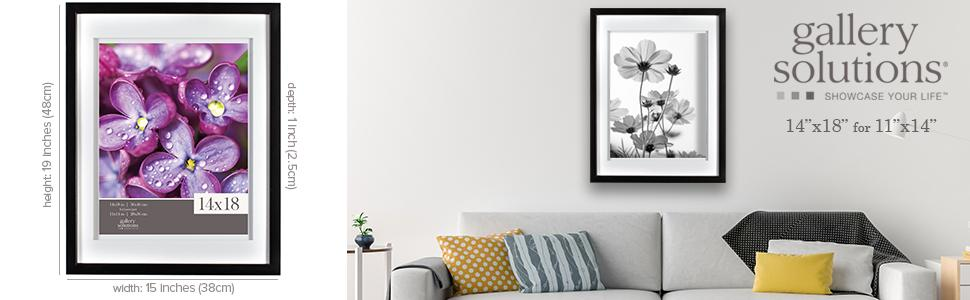 Amazon Com Gallery Solutions 14x18 Black Picture Wall