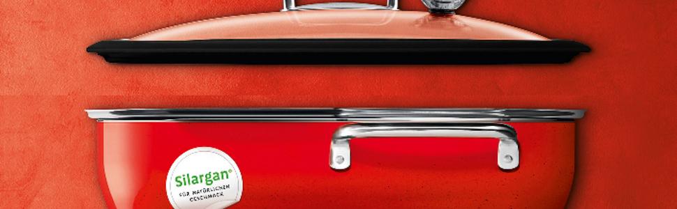 Silit Glasdeckel ecompact® Ø 34cm Metallgriff spülmaschinengeeignet