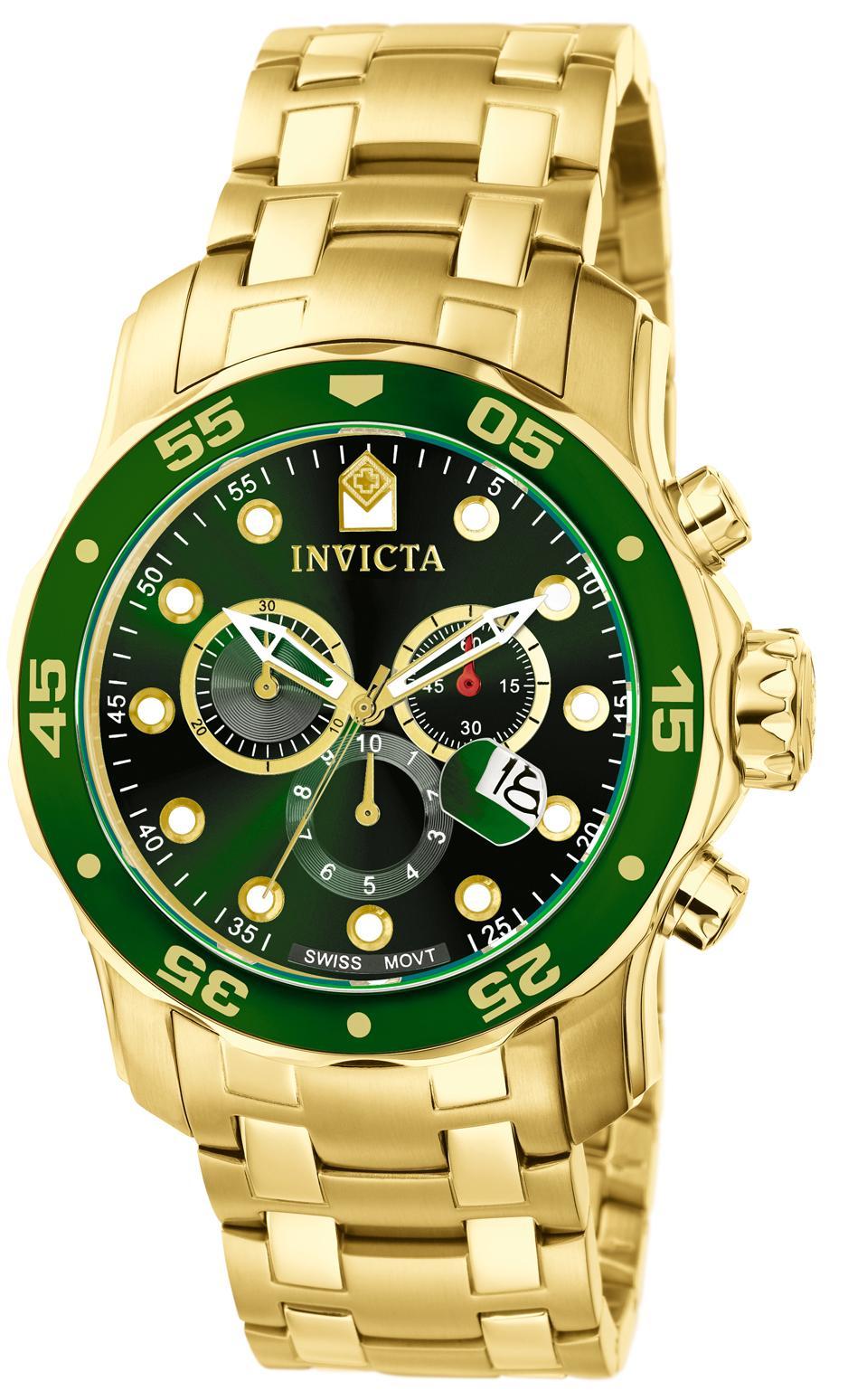 Amazon Com Invicta Men S 0075 Pro Diver Chronograph 18k