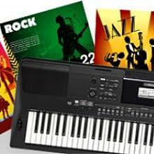 teclado electronico portatil ew410. Realtime backing tracks