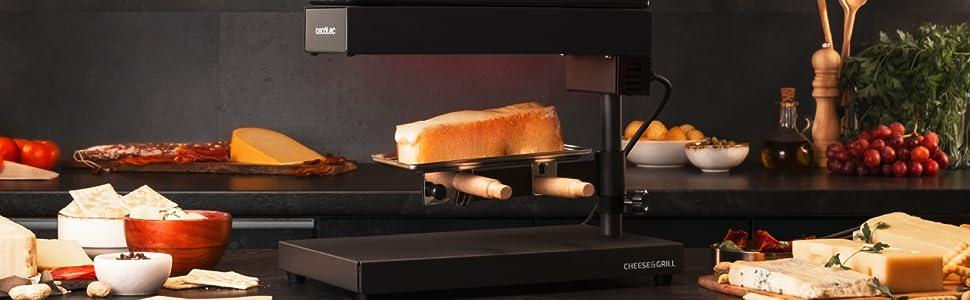 Raclette Cheese&Grill 600 Noir de Cecotec