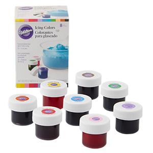 Amazon.com: Wilton Set of 8 Icing Colors: Food Coloring: Kitchen ...