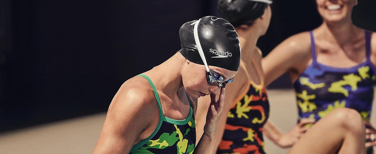 solid silicone swim cap, speedo swim cap, swim cap, swimming cap, swimming gear