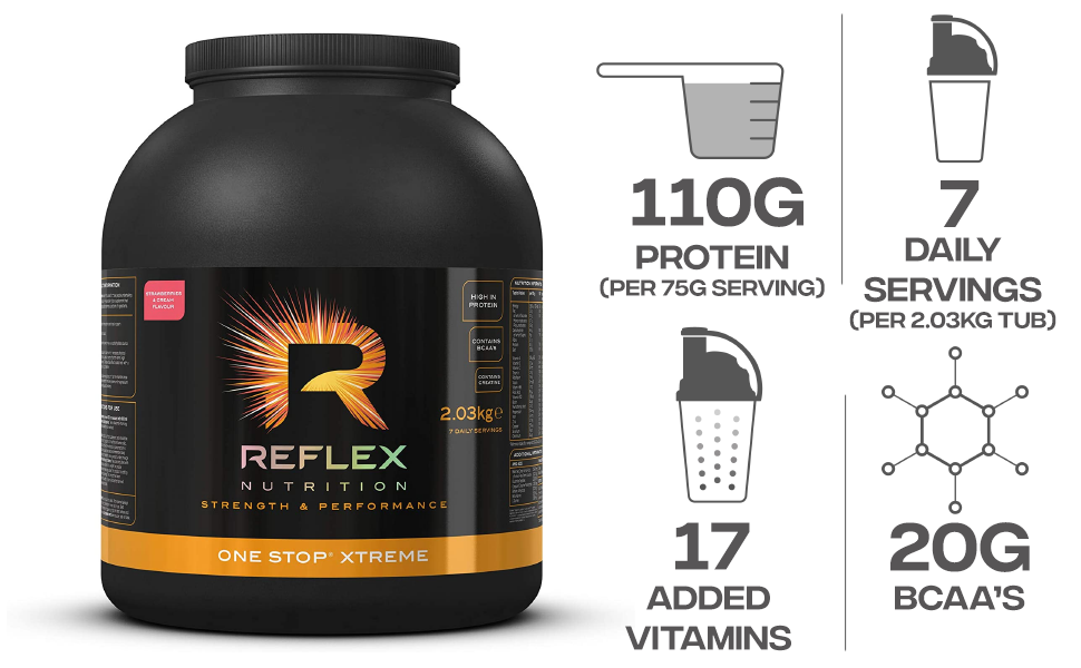 Reflex Nutrition One Stop Xtreme Strawberries and Cream ...