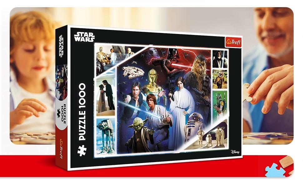 Trefl Puzzle dans une galaxie lointaine 1000 pièces Star Wars pour enfants à partir de 12 ans