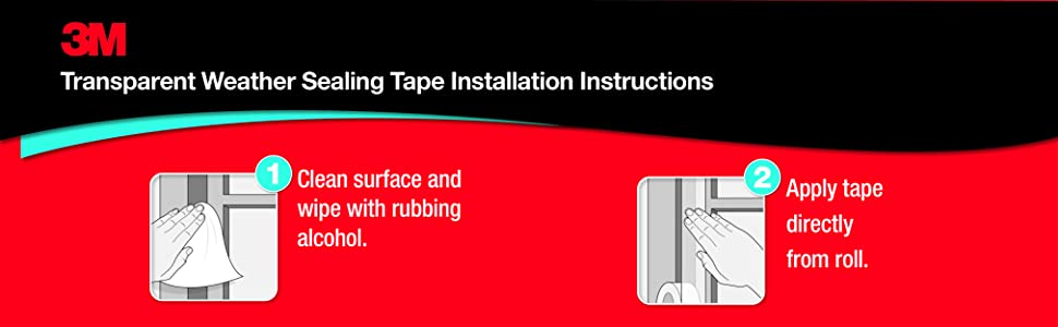 3M Indoor Transparent Weather Sealing Tape Installation Instructions