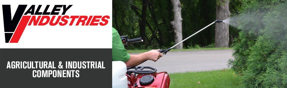 Valley Industries, spot spraying, lawn spray, agricultural, industrial, spray wand, spray gun