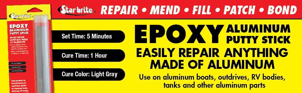 Alumbond, Aluminum Epoxy, Hy-poxy, j-b weld, jb weld, star brite, putty stick, marine weld