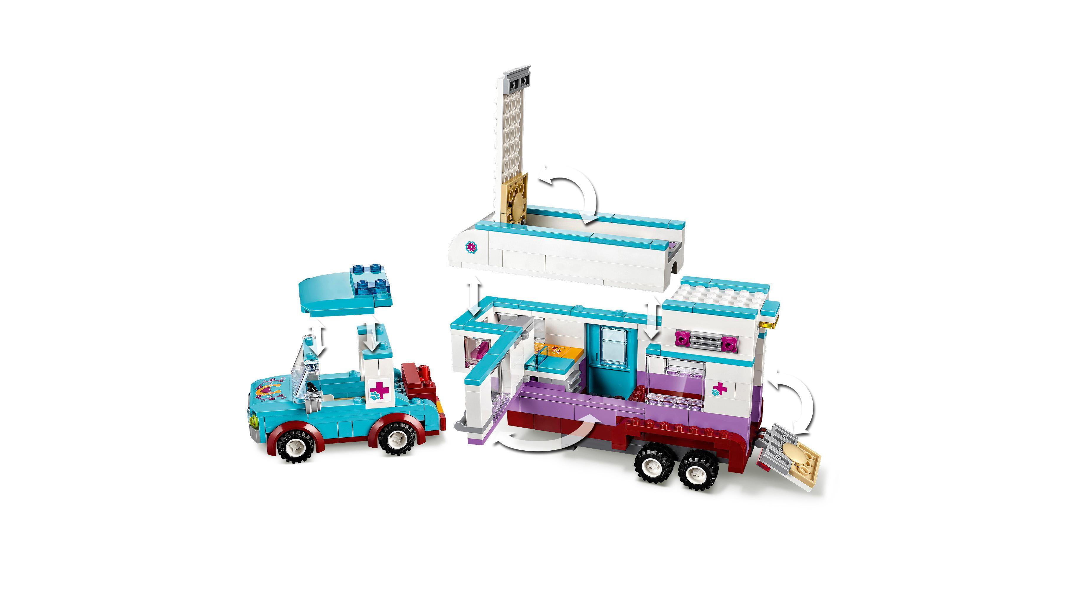 LEGO Friends - Remolque del Veterinario de Caballos