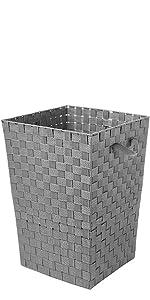 Woven Strap Hamper - Gray