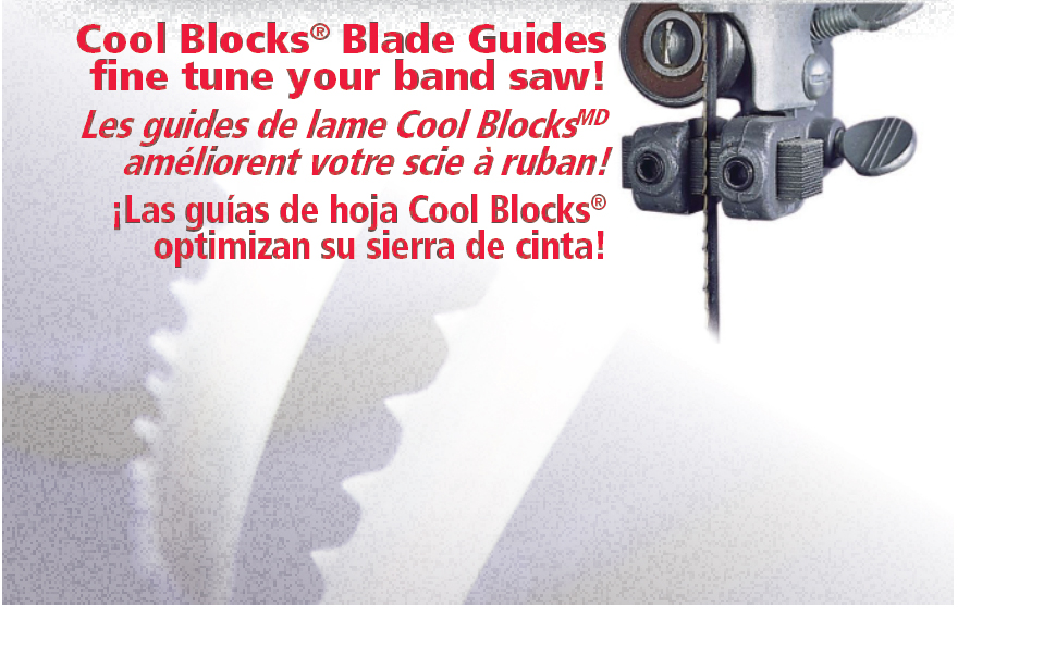 Cool Blocks band saw blade guides
