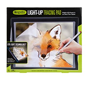 light up tracing pad, activity set for kids, art kit, art set, tracing pad, tracing paper