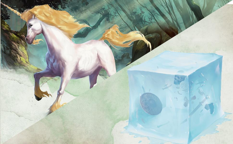 Unicorn, gelatinous cube