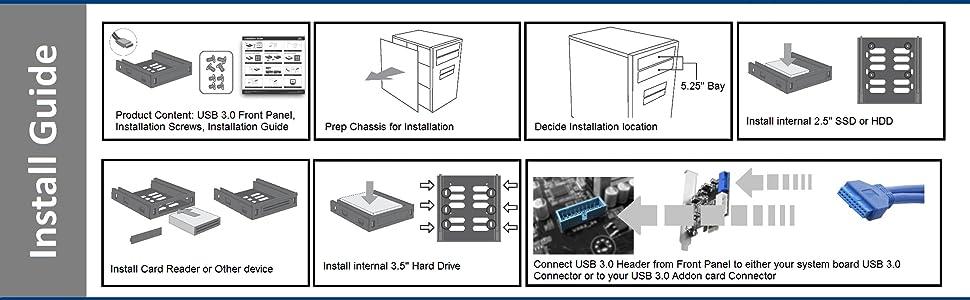 Amazon.com: Vantec USB 3.0 Front Panel with 5.25