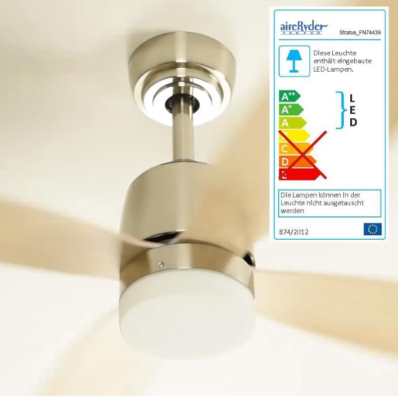 Ventilador de techo con LED AireRyder FN74439 Stratus motor