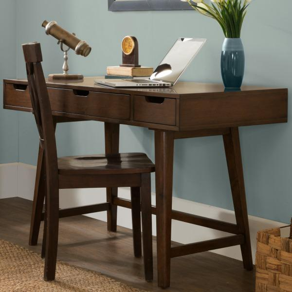 6ebb5d915d41 Pulaski DS-A130-550 Three Drawer Mid-Century Modern Writing Desk ...