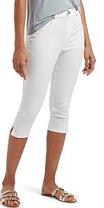 denim leggings, womens leggings, capri leggings, white capris, pants, pants for women