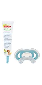 nuby massaggiegengive per neonati e mabini gel dentizione