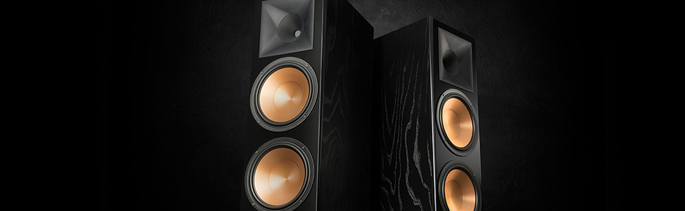 Amazon Com Klipsch 1064559 Rf 7 Iii Floorstanding Speaker Black Ash Home Audio Theater