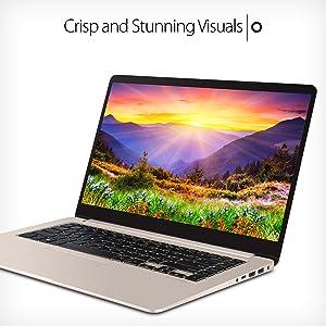 "ASUS VivoBook S 15 6"" Full HD Laptop, Intel i7-7500U 2 7GHz, 8GB RAM, 128GB  SSD + 1TB HDD, Windows 10, Fingerprint Sensor, Backlit Keyboard"