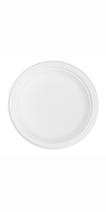 """6"""" Bagasse Round Plate"""