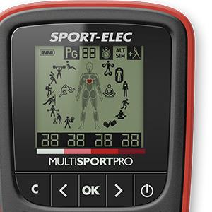 Rouge Noir Sport-Elec Multisport Pro MAXIBELT electrostimulateur Adulte Unisexe Unique