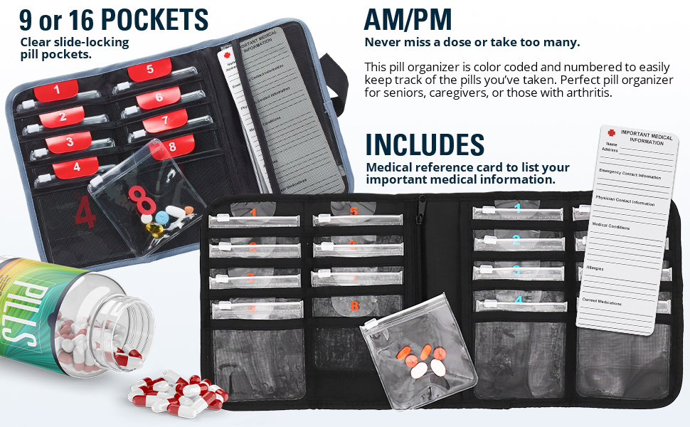 many pockets lots of pockets organizer with pockets purse pockets pill reminder medical case pouch