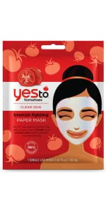 yes to;yes to sheet mask;yes to tomatoes;paper mask