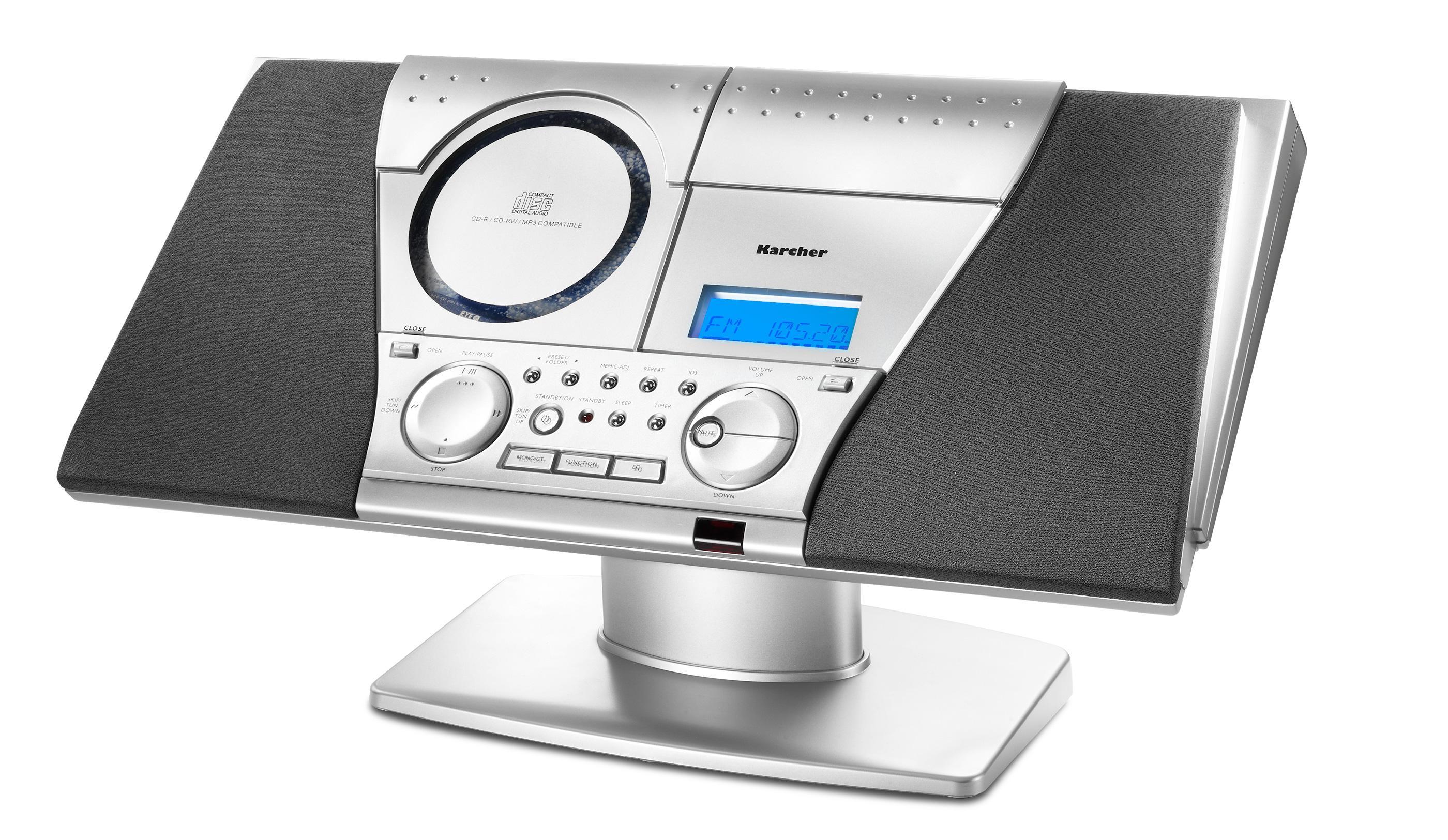 karcher mc 6550n kompaktanlage mit cd player und. Black Bedroom Furniture Sets. Home Design Ideas