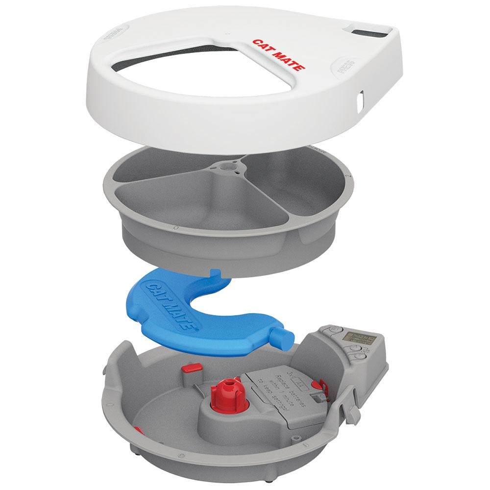 Cat Mate C300 Automatic 3 Meal Pet Feeder With Digital