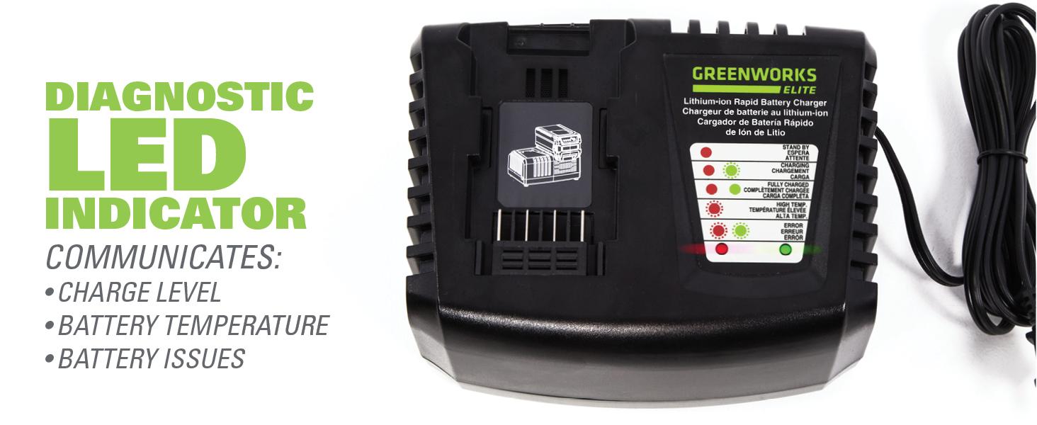 Greenworks C-400 40V Rapid Charger