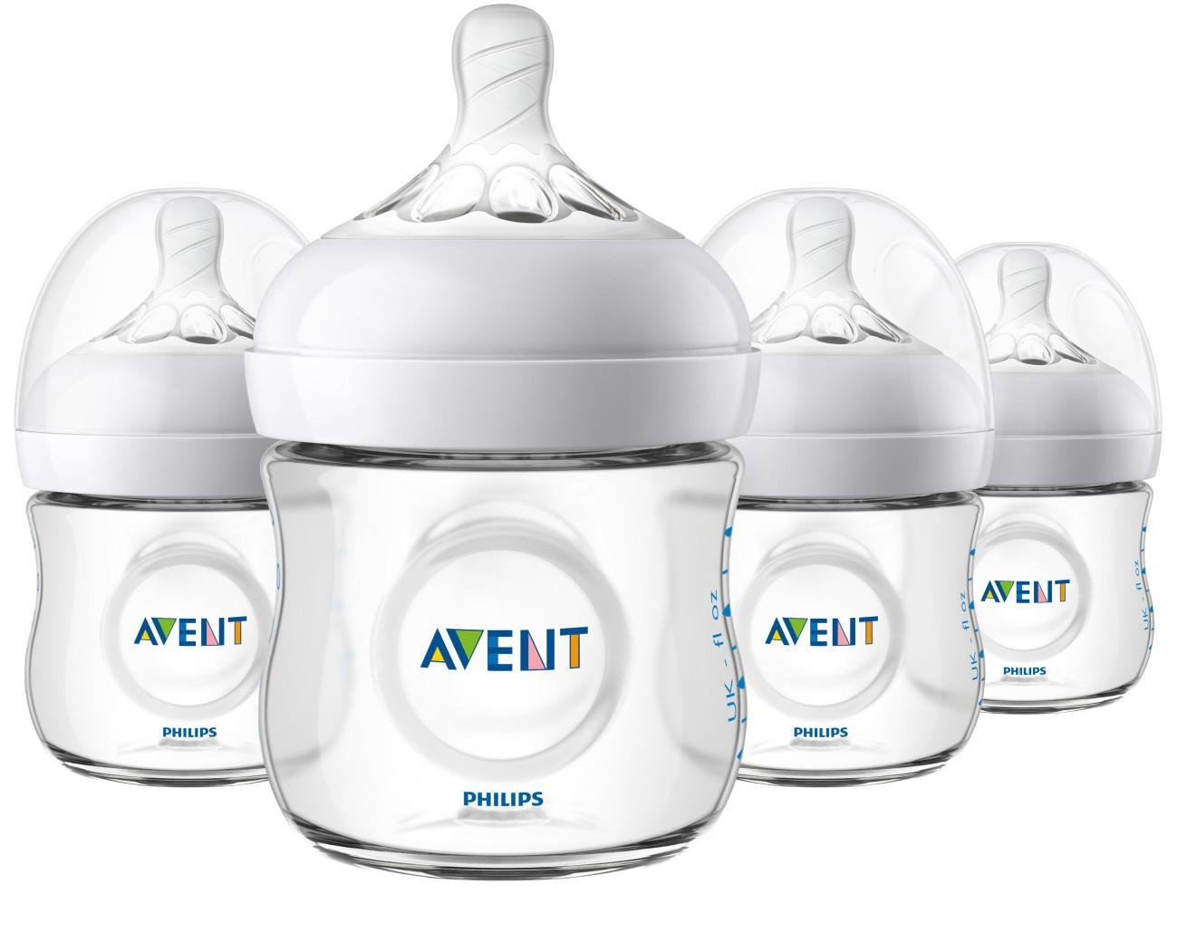 Amazon.com : Philips Avent Natural Baby Bottle, Clear, 4oz