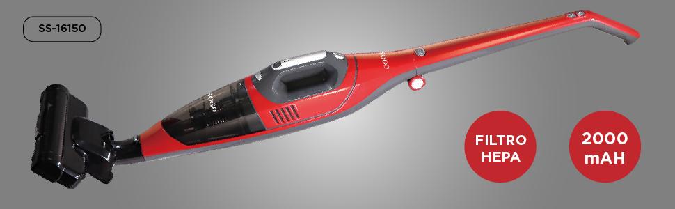 SOGO SS-16150-R Aspiradora vertical 2 en 1 Ciclónico | Sin cables ...