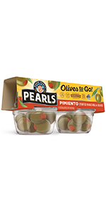 Olives To Go!, Pimiento Stuffed, Spanish Green Olives