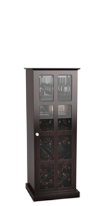 Atlantic Windowpane 24-Bottle Wine Cabinet