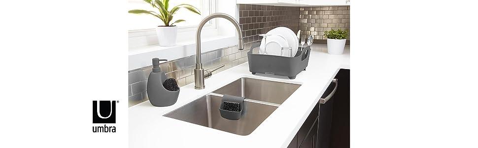 Amazon Com Umbra Tub Dish Drying Rack Avocado Home